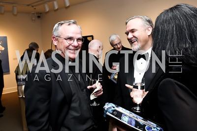Fr. Mark Horak, Scott Sullivan. Photo by Tony Powell. 2015 NMWA Gala. April 10, 2015