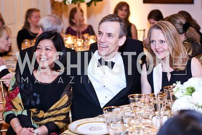 Jemmie Obuchowski, Robert Holman, Jane Halprin. Photo by Tony Powell. 2015 NMWA Gala. April 10, 2015