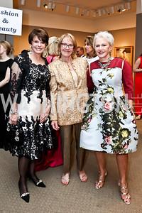 Marlene Malek, Marcia Carlucci, Marsha Shiff. Photo by Tony Powell. 2015 NMWA Gala. April 10, 2015