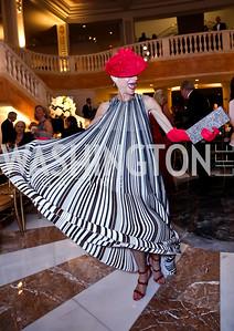 Barbara Crocker wearing Dior. Photo by Tony Powell. 2015 NMWA Gala. April 10, 2015