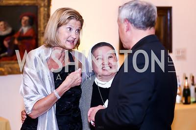 Janice Obuchowski, Sister Emelita Sobrepena. Photo by Tony Powell. 2015 NMWA Gala. April 10, 2015
