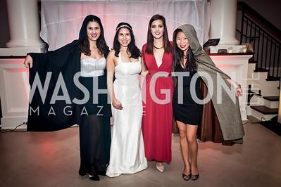 Mia Desimone, Ashley Arias, Isobel Kuchinshy, Rebecca Chin. Photo by Tony Powell. 2015 Night Nouveau. Halcyon House. October 10, 2015