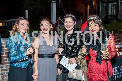 Ella Rakitin, Mariko Schmitz, Junke Nakayama, Tazuko Schmitz. Photo by Tony Powell. 2015 Night Nouveau. Halcyon House. October 10, 2015