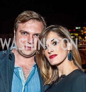 Ali and Sia Tatari. Photo by Tony Powell. 2015 Night Nouveau. Halcyon House. October 10, 2015