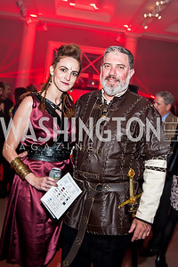 Kate Goodall, David Gorodetski. Photo by Tony Powell. 2015 Night Nouveau. Halcyon House. October 10, 2015