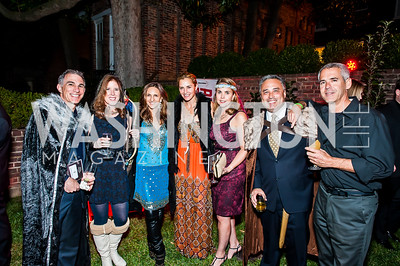 Steve and Alexis Denny Kaufmann, Elizabeth Muir, Amy Aronson, Alice and David Paik, Baron Bernstein. Photo by Tony Powell. 2015 Night Nouveau. Halcyon House. October 10, 2015