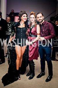 Genesis Rodriguez, Kate Goodall, Richard Bobo. Photo by Tony Powell. 2015 Night Nouveau. Halcyon House. October 10, 2015