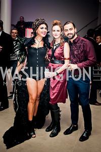 Genesis Rodriguez, Kate Goodall, Richard Bobo. Photo by Tony Powell. 2015 Night Nouveau. Halcyon House. October 10, 2015