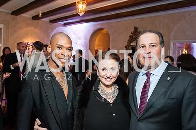 Aaron Jackson, Lizette Corro, Panama Amb. Emanuel Gonzalez-Revilla. Photo by Tony Powell. 2015 Noche de Pasion. Residence of Panama. November 14, 2015