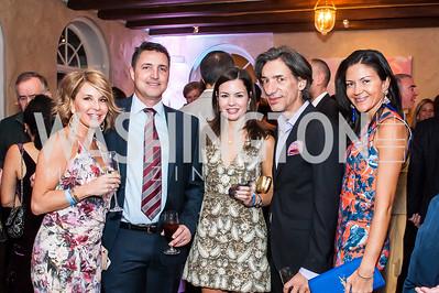 Julie and Mark Price, Susan Dowhower, Septime Webre, Carolina DeSouza. Photo by Tony Powell. 2015 Noche de Pasion. Residence of Panama. November 14, 2015