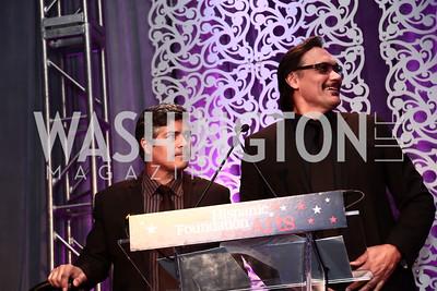 Esai Morales, Jimmy Smits. Photo by Tony Powell. 2015 Noche de Gala. October 6, 2015