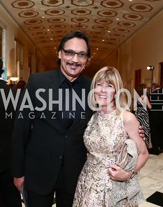 Jimmy Smits, Ginny Grenham. Photo by Tony Powell. 2015 Noche de Gala. October 6, 2015