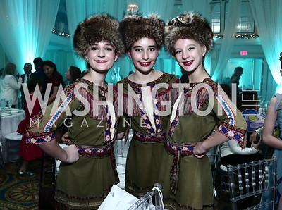 Sophia Trone, Eva Thomas, Kasey Orava. Photo by Tony Powell. 2015 Nutcracker Tea. Willard Hotel. December 13, 2015