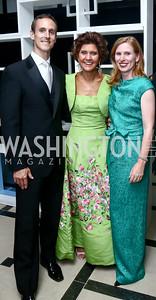 Rob and Capricia Marshall, Huberta Wittig. Photo by Tony Powell. 2015 Opera Ball. June 6, 2015