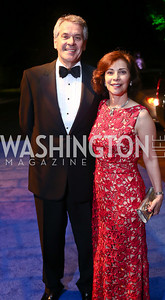British Amb. Peter Westmacott and Susie Westmacott. Photo by Tony Powell. 2015 Opera Ball. June 6, 2015