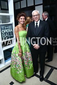 Capricia Marshall, David Rubenstein. Photo by Tony Powell. 2015 Opera Ball. June 6, 2015