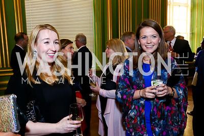 Alexandra Altman, Brooke Jones. Photo by Tony Powell. 2015 Refugees International Annual Dinner. Mellon Auditorium. April 28, 2015