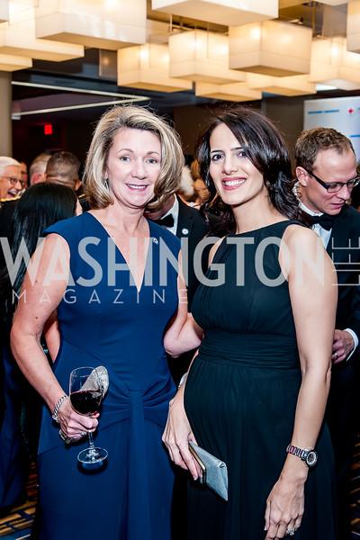 Cathy Waltin, Patricia Gonzalez. Photo by Tony Powell. 2015 Salute to Service Gala. November 20, 2015