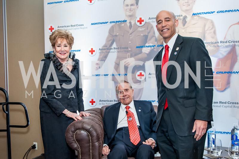 Elizabeth and Bob Dole, Harry Wingo. Photo by Tony Powell. 2015 Salute to Service Gala. November 20, 2015