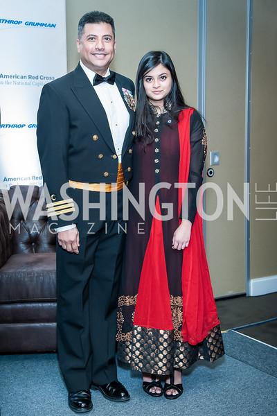 Saifulislam and Taharah Chaplin. Photo by Tony Powell. 2015 Salute to Service Gala. November 20, 2015