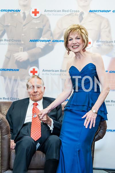 Bob Dole, Linda Mathes. Photo by Tony Powell. 2015 Salute to Service Gala. November 20, 2015