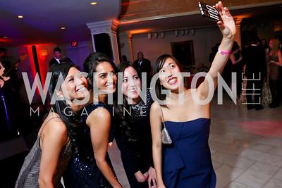 Justine Javier, Andrea Kamath, Dorothy Garrett, Melody Chen. Photo by Tony Powell. 2015 SOME Junior Gala. February 7, 2015