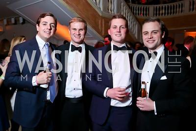 Chris Burnham, Albert Copeland, Grant Fitzgerald, Sadler Walker. Photo by Tony Powell. 2015 SOME Junior Gala. February 7, 2015