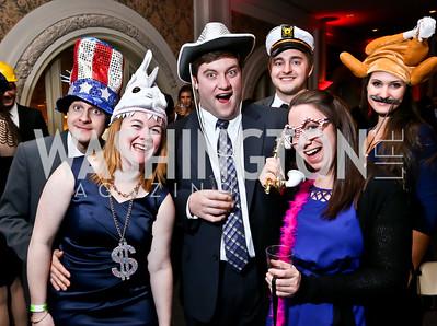 Kevin McCarthy, Amanda Arkwright, Charlie Nicolson, Bethany Gustafson, Joe McCarthy, Victoria Barry. Photo by Tony Powell. 2015 SOME Junior Gala. February 7, 2015