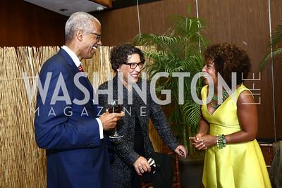 Darryl and Leslye Fraser, Mia Jones. Photo by Tony Powell. 2015 Step Afrika Gala. HU. June 4, 2015