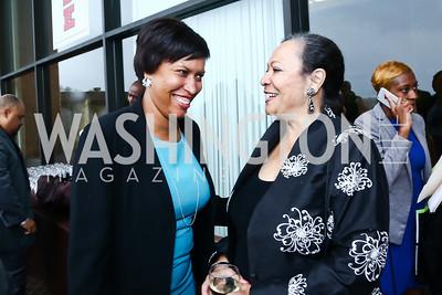 DC Mayor Muriel Bowser, Patricia Williams. Photo by Tony Powell. 2015 Step Afrika Gala. HU. June 4, 2015
