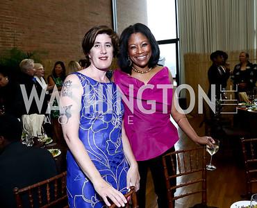 Joanne Coutts, Leslie Carey Kirk. Photo by Tony Powell. 2015 Step Afrika Gala. HU. June 4, 2015