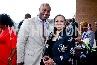 Jason Turner, Patricia Williams. Photo by Tony Powell. 2015 Step Afrika Gala. HU. June 4, 2015