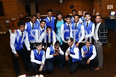 Dem Raider Boyz Step Squad with DC Mayor Muriel Bowser. Photo by Tony Powell. 2015 Step Afrika Gala. HU. June 4, 2015
