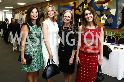 Tina Mather, Monica Scott, Charlotte Cameron, Angie Fox. Photo by Tony Powell. 2015 Step Afrika Gala. HU. June 4, 2015