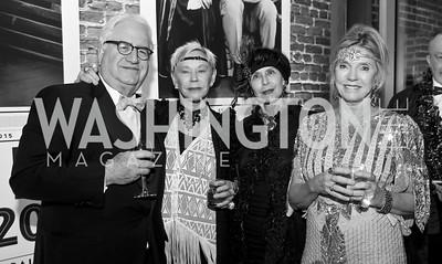 John Lewis, Betsy Stewart, Anette Polan, Jane Fishkin. Photo by Tony Powell. 2015 Studio Theatre Gala. February 7, 2015