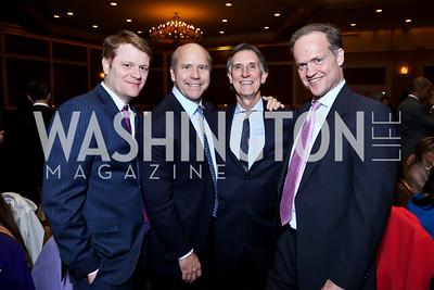 Nicholas Perrins, Rep. John Delaney, Doug Holladay, David Dekker. Photo by Tony Powell. 2015 Teach for America Gala. Omni Shoreham. March 4, 2015