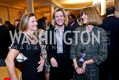 Sara Schaberg, Cindi Lackey, Tammie Collins. Photo by Tony Powell. 2015 Teach for America Gala. Omni Shoreham. March 4, 2015