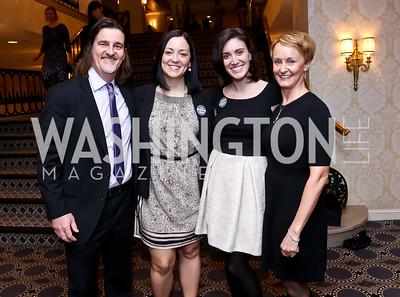Vadim Nikitine, Amanda Nichols, Stephanie Kapsis, Kristin Ehrgood. Photo by Tony Powell. 2015 Teach for America Gala. Omni Shoreham. March 4, 2015