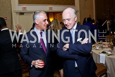Goldman Sachs' David Perlin, David Bradley. Photo by Tony Powell. 2015 Teach for America Gala. Omni Shoreham. March 4, 2015