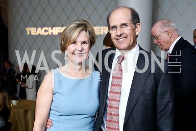 Connie Carter, Gordon Dale. Photo by Tony Powell. 2015 Teach for America Gala. Omni Shoreham. March 4, 2015