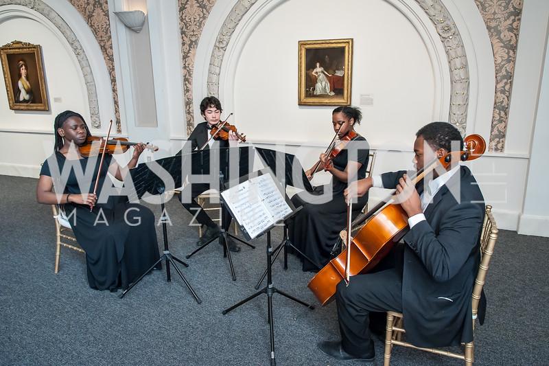 Duke Ellington School Quartet. Photo by Tony Powell. Uncorked. NMWA. November 21, 2015