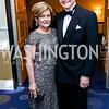 Robin Smith and CBS News Correspondent Bill Plante. Photo by Tony Powell. 2015 WHCD Pre-parties. Hilton Hotel. April 25, 2015