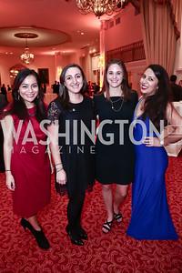 Aunee Tarango, Carolyn Scorpio, Kate Weine, Katherine Herrera. Photo by Tony Powell. 2015 WOLA Human Rights Awards. Mayflower. October 28, 2015