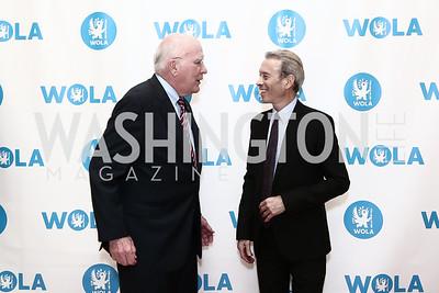 Sen. Patrick Leahy, Tim Rieser. Photo by Tony Powell. 2015 WOLA Human Rights Awards. Mayflower. October 28, 2015