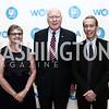 Executive Director Joy Olson, Sen. Patrick Leahy, Tim Rieser. Photo by Tony Powell. 2015 WOLA Human Rights Awards. Mayflower. October 28, 2015
