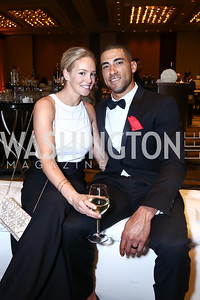 Chelsea and Ian Desmond. Photo by Tony Powell. 2015 Nationals Dream Gala. Marriott Marquis. June 6, 2015