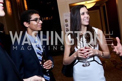 Curtis Powell, Sarah Gibbens. Photo by Tony Powell. WPCF Congressional Dinner. Mandarin Oriental. February 4, 2014
