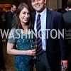 ABC's Ali Weinberg, Luke Russert. Photo by Tony Powell. WPCF Congressional Dinner. Mandarin Oriental. February 4, 2014