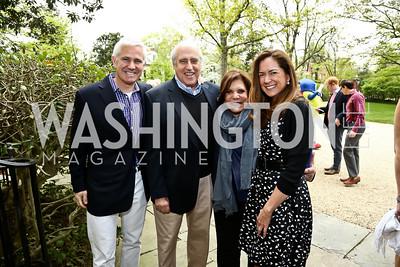 Patrick Steele, Dan and Rhoda Glickman, Lee Satterfield. Photo by Tony Powell. 2015 WHC Garden Brunch. April 25, 2015