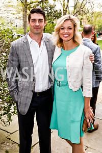 Adam Wright, Pamela Brown. Photo by Tony Powell. 2015 WHC Garden Brunch. April 25, 2015